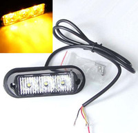 Wholesale Emergency Strobe Lights Waterproof - High Power 3W 22 Mode Waterproof 3 LED Car Truck Emergency Strobe Flash Light Amber Lamp