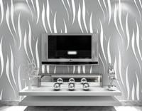 papier maison achat en gros de-Papier peint 3D Home Decor TV background Rouleau de papier peint non tissé