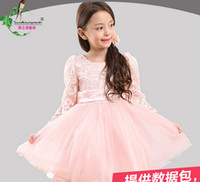 2015 Kids Party Hot Vestido CR230 Laço elegante gancho Flower Princess Dress For CR230 Girl Character cintura Big Bow Voltar Crianças Bola Grown