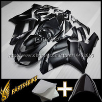 Wholesale Kawasaki Aftermarket Motorcycle Fairings - 23colors+8Gifts BLACK Aftermarket Plastic Fairing for Kawasaki ZX6R 07 08 ZX-6R 2007 2008 07 08 bodywork Motorcycle Body Kit