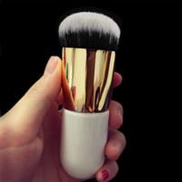 Wholesale flat kabuki - 2016 New Pro Kabuki Powder Contour Makeup Brush Flat Foundation Face Blush Cosmetic Tools Free Shipping