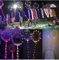 Wholesale meter balloons - Transparent Balloon LED Light Balloons Wedding Xmas Party Lights Décor LED String Lights Balloon 3 Meters String Wedding Balloon KKA3181
