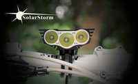 Wholesale T6 Led Head Light - Solarstorm X3 6000 Lumen CREE Bike light 3 LED Lanterna T6 Bicycle Front Light Cycling light torch18650 Battery Pack cycle light