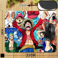 Wholesale Manga Luffy - Wholesale-Japanese Manga One Piece Monkey Luffy Personality Gamer Gaming Mouse mat for PC Computer Mouse