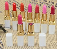 Wholesale White Lipgloss - high quality Hot charm nude color lipstick makeup moisturizing lipstick Lasting waterproof Lipgloss classic white square batom