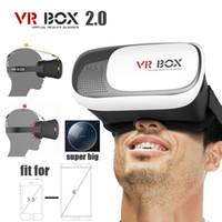 realidad virtual google 3d plastico carton al por mayor-DHL de montaje en la cabeza de plástico VR BOX 2.0 versión VR Gafas de realidad virtual Cartón de Google Película de juego 3d para teléfono inteligente de 3.5