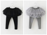 Wholesale legging stocking kids - New Arrive Autumn Winter girl legging Girls Skirt pants Cake skirt girl baby thicken pants kids Skirt free shipping in stock