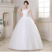 Wholesale Ship Images Large Size - White 2015 New Design Large Size Double Shoulders Korean Style Butterflies Sweet Fashion Wedding Dress Wholesale Free Shipping CW071