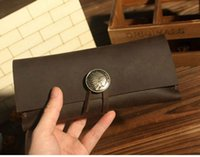 origin travel - Origin Design handmade travel cowhide genuine leather brown for phone holder mobile pencil bag D0603
