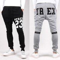 Wholesale Crotch Man - Pyrex Harem Pants + h belt pyrex Style Fashion Casual Skinny Sweatpants Sport Pants Trousers Drop Crotch Jogging Pants Men Joggers Sarouel