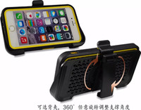 Wholesale iphone 5s belt holster - Clip Belt Holster Hard PC Hybrid Case+Touch Screen Protector+Soft TPU Bumper Frame For Iphone 6 6S Plus 5 5S 5SE SE Galaxy S6 Note5 Note 5