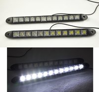 Wholesale High Power Drl - High Power Daytime Running Light 2 x 12 LED DRL Daylight Head Lamp Car Auto 12V free shipping