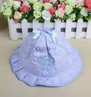 Wholesale Infant Baby Bucket Hat Wholesale - Infant Visor Sun Hats Caps New Fashion Soft Cotton Baby Sun Hats Children Girls Sun Polka Bucket Hat