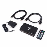 Wholesale video processors - Freeshipping 2D to 3D HDMI Video Converter Box HD 1080P 720P 3D DLP Projector Media Processor Support HDMI 1 Out and 2 In For 3D TV Games