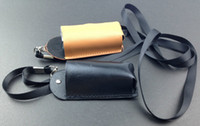 Wholesale Ecig Leather Lanyard - iStick 20W 30w Leather Case iStick eCig Carry Case Necklace Pouch eGo Lanyard For iStick Mod Batter OEMy