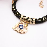 Wholesale Devil Eyes Pendant - 20pcs Ultra-burst tide cool jewelry European and American jewelry Devil Eyes Bracelet Love Pendant Bracelets