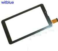 Wholesale touchscreen parts - Wholesale- New Touchscreen For Tablet 7'' For Irbis TZ45   TZ46   TZ50 3G Touch Screen Panel Digitizer Sensor Replacement Parts Black