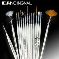 Wholesale 3d Paint Nail - 15Pcs Design Painting Pen Professinal Nail Art Brush Set for Natural False 3D Tips Tool Beauty Brand New