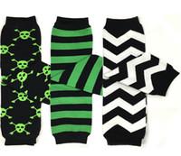 Wholesale Baby Legging Green - Halloween Green Black Pirate Skull Baby Leg Warmer Leggings 280 patterns Boys Girls Leggings Tights Snowflakes Socks Baby Sockstights 20 Pc
