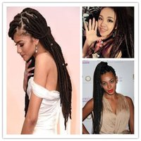 Wholesale x braiding hair for sale - Synthetic Braiding Hair Wig Full Long X Press Micro Box Braided Lace Front wigs For Black Women Braid Wig for Africa American