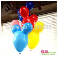 Wholesale-10pcs / lot Mickey Mouse-Form Luftballons Mickey Birthday Party Dekorationen Baloes Latex