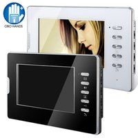 """Wholesale Video Door Phone Hands Free - 7"""" Color HD Hands-free Wired Video Door Phone Door Monitoring System Indoor Unit Monitor for Home Apartments with 25 Ringtone"""