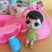 Wholesale Doll Overall - Surprise baby LOL doll series 2 sleep girl children toy overalls bottle multi-function retail package Christmas gifts for the children of th