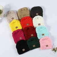 Wholesale cashmere baby crochet hats for sale - Fashion Baby Hats CC Trendy Beanie Crochet Beanies Outdoor Hat Winter Newborn Beanie Children Wool Knitted Caps Warm Beanie BH55