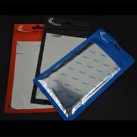 cep telefonu aksesuarları ambalaj torbalar toptan satış-20 * 11.5 cm 18 * 10 cm Temizle + alüminyum Plastik OPP Perakende ambalaj paketi cep telefonu Kablosu kılıfı için kılıfı çanta aksesuarları