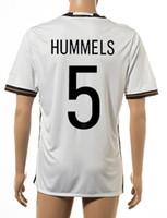 Wholesale German T Shirts - Thai Quality Customized 2015-16 New season men German European Cup 5 HUMMELS Home Soccer Jerseys Shirts,7 SCHWEINSEIGER T-shirt Soccer WeaR