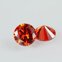17cfc82b554a 3A Tamaño pequeño Naranja Rojo Precio de piedra CZ 0.8-1.5mm Redondo Good  Cut Lab Creada Cubic Zirconia piedras preciosas sueltas 1000 unids   lote