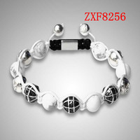Wholesale White Shamballa Men - men and momen is shamballa alloy Strip Weave adjust Natural stone High-grad Beads bracelets Nialaya factory new hand made bracelets ZXF8256