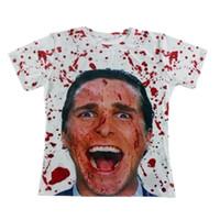 Wholesale American Psycho Shirt - FG1509 Hot sale 2015 Fashion men's tshirt 3d print American Psycho T-shirt Unisex Tees Novel Digital Printed Short Sleeve Tops T shirt