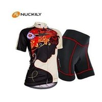 Wholesale Order Team Bike Jersey - factory Professional NQ12 New factory freeshipping of NUCKILY Women Bike Team Cycling Jersey and Shorts set Size xS-4XL 7 orders