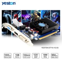 Wholesale Nvidia Video Card Geforce 1gb - Yeston GeForce GT 710 GPU 1GB GDDR3 64 bit Gaming Desktop computer PC Video Graphics Cards support
