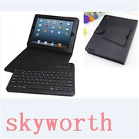 Wholesale Detachable Ipad Keyboard - Detachable Wireless Bluetooth Keyboard Leather Case Stand for iPad Air 2 mini 4 iPad 2 3 4 5 6 Pro 12.9