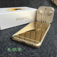 plaque de cellule achat en gros de-Nouvelle coque de téléphone Apple iPhone6 6S Plus 5S miroir de placage mince transparent tpu cas de téléphone portable coque de protection livraison gratuite