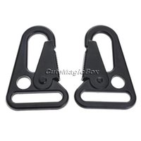 Atacado-2 Pcs HK Sling Clips Quick Release Spring Carabiner Snap Gancho Strap Rifle EDC Keychain Buckle Rope Outdoor Camping Caminhadas Viagens