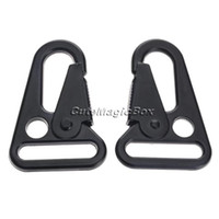 Wholesale sling clips - Wholesale-2 Pcs HK Sling Clips Quick Release Spring Carabiner Snap Hook Strap Rifle EDC Keychain Buckle Rope Outdoor Camping Hiking Travel