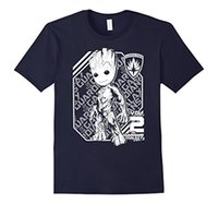 Wächter Vol. 2 Groot White Athletic Graphic T-Shirt O-Neck Fashion Kurzarm T-Shirt für Männer Sommer lustiges loses T-Shirt