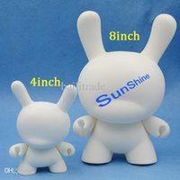 Wholesale White Dunny - Wholesale-Blank White Kidrobot Dunny Toys Unpaited 4 inch 8 inch Momo Rabbit DIY Doll For Children Gift