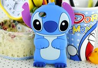 Wholesale Stich Cases - 3D Cartoon Stich Silicone Case Back Cover for iPhone 6 6 Plus 5S 4S galaxy S4 S5 S6 case
