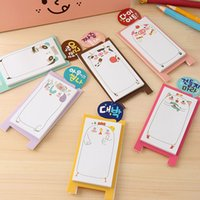 Wholesale Notepad Stand - Wholesale-Kawaii animal memo pad paper sticky notes stand notepad post it stationery papeleria school supplies WJ-BLT-25