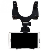Wholesale rearview mirror holders for iphone - Adjustable Car Auto Rearview Mirror Mount Cell Phone Holder Bracket Stands For Samsung xiaomi Huawei For iphone 8x Mobile Phone GPS