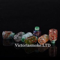 Wholesale Ego Herb Ce4 - Cheapest E Cig 510 Pyrex Glass with Resin Drip Tip Art Flower Wide Bore Drip Tips EGO CE4 Atomizer Mouthpiece for DCT MT3 Dry Herb Vaporizer