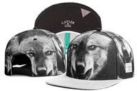 All'ingrosso-Cayler and Sons lupo stampa snapbacks lupo stampato sul bordo con il berretto da baseball PRIDE Gorras ossa di animali