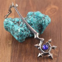 Wholesale League Legends Lulu - Free Shipping Hot Sale LOL League Of Legends Big Size Faerie Witch Lulu Weapon Metal Pendant Key Ring Keychain