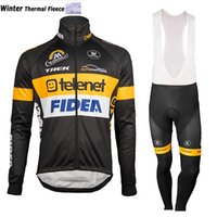 Wholesale Thermal Bib Cycling - 2017 Thermal Fleece Cycling Jersey Long Sleeve Ropa Ciclismo Winter and Cycling bib Pants ropa ciclismo thermal ciclismo jersey thermal 2807