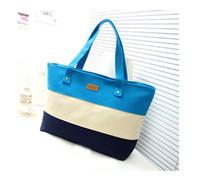 Wholesale Ladies Canvas Shoulder Bag Sale - 2015 Hot Sale Colorized Patchwork Canvas Women Messenger Bag Lady Shoulder Bag Fashion School Bag
