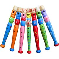 Wholesale Wooden Whistles Wholesale - Toddler Kids Art Developmental Wooden Flute Whistle Musical Instrument Toys